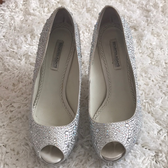 7021cedb8 benjamin adams Shoes - Swarovski crystal wedges- Wedding prom